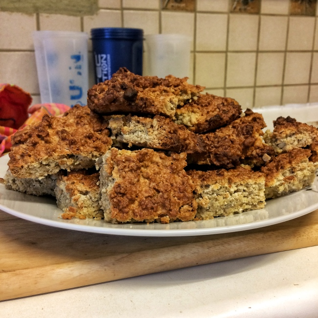 oat flakes cake snack